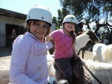 Students setting out from Mt Rinaldi Riding School