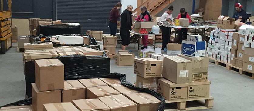 warehouse sorting
